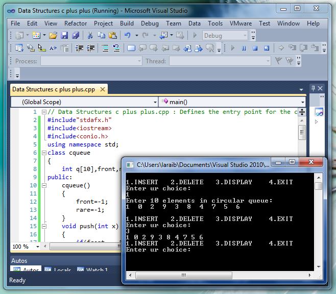 Create a program which takes 10 integers values from user in a